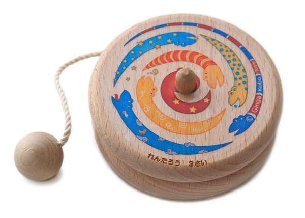 Rainbow Yoyo Wooden Toys (Ginga Kobo Toys) Japan