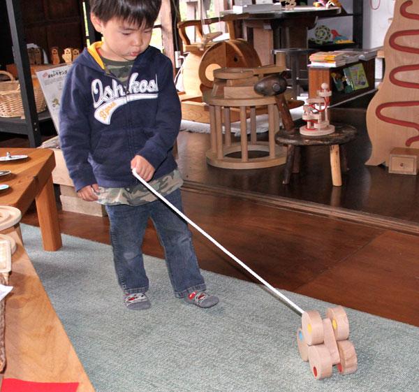 SIX WHEEL CAR Wooden Toys (Ginga Kobo Toys) Japan