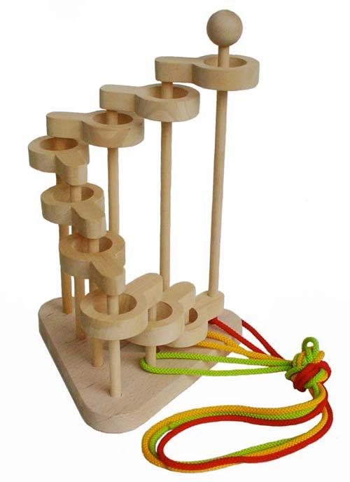 【名入れ可】立体知恵の輪(9段)超超超難解パズル 日本製 木のおもちゃ パズル 知育玩具 脳トレ 木のパズル 1歳 2歳 3歳 4歳 5歳 6歳 7歳 8歳 幼児子供~高齢者 小学生 誕生日ギフト~出産祝い 型はめ 誕生祝い 紐通し ひも抜き 木製 親子 木育 家族 施設 ぼけ防止