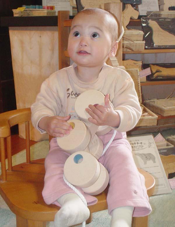 -6-轮汽车 (开式) 日本好玩具选择玩具幼儿木制玩具日本制造的 5 个月 6 个月 7 个月 8 个月 9 个月 10 个月 1 年 2 年 3 年 4 年生日礼物婴儿礼物婴儿玩具男孩女孩嘎嘎珀斯折扣车拉