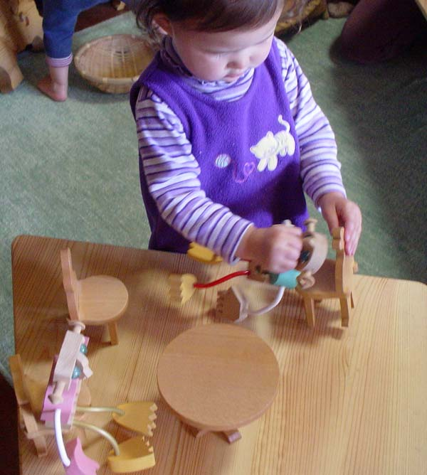 ROUND MINIATURE TABLE Wooden Toys (Ginga Kobo Toys) Japan