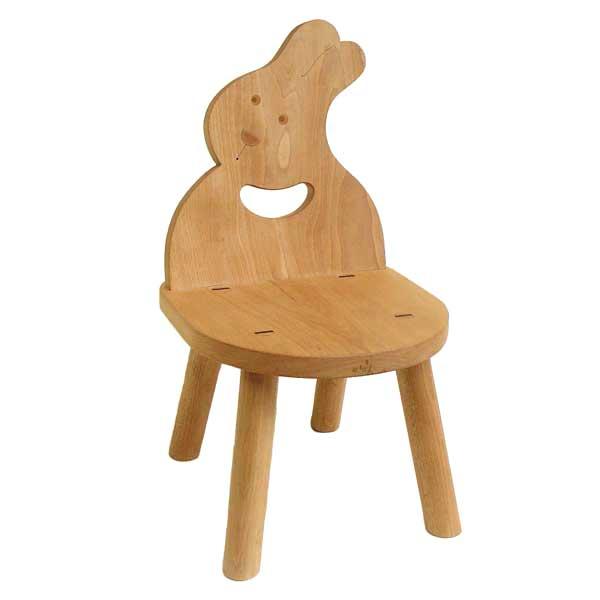 ● うさぎ椅子 (子供家具 木のおもちゃ 知育玩具 日本製) 6ヶ月 1歳 プレゼント ランキング 2歳 3歳 4歳 5歳 6歳 7歳 誕生日ギフト 誕生祝い 出産祝いにお薦め♪赤ちゃん おもちゃ 男の子&女の子 注文製作 いす イス 木工職人手作り 木育 ★ Ginga Kobo Toys
