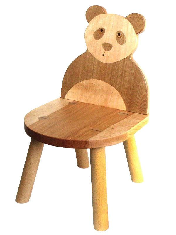 【名入れ可】●パンダ椅子 (子供家具・木のおもちゃ 日本製 ) 1歳 2歳 3歳 4歳 5歳 誕生日ギフト~出産祝い 男の子 女の子 赤ちゃん おもちゃ♪ 注文製作の木の椅子 子供施設 キッズルームに最適です! 記念日 木工職人手作り いす イス 木育 ★ Ginga Kobo Toys