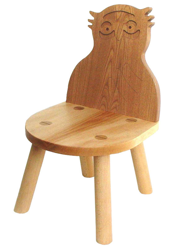 Owl Chair Wooden Toys (Ginga Kobo Toys) Japan