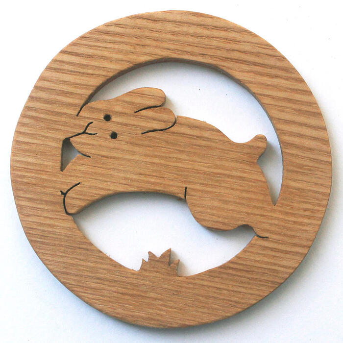 ♦ hopping Hare play coasters made of Japan Wood's toy building block type practical Solitaire fun rather than 1-year-old 2 years 3 years 4 years 5 years birthday gift-baby boys girls domestic barrier-free woodworking craftsmen hand-made birthday celebrat