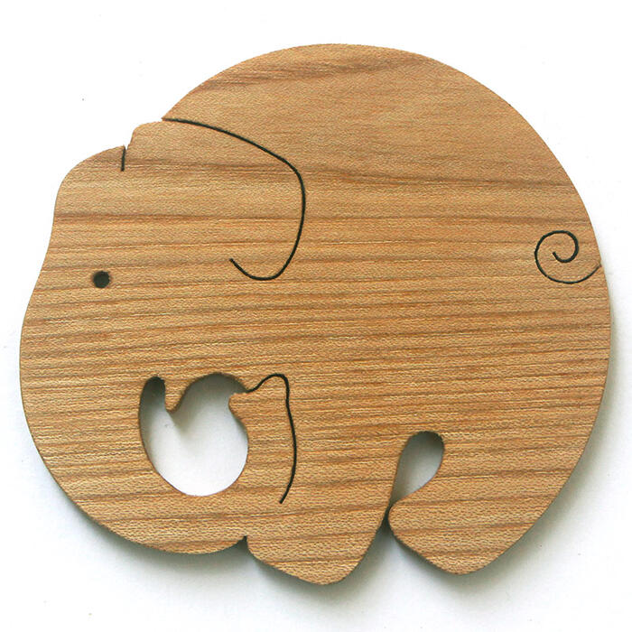 ♦ coasters made of Japan Wood filled with a seriously elephant playful toy building block type up practical fun rather than 1-year-old 2 years 3 years 4 years 5 years birthday gift-baby boys girls domestic barrier-free woodworking craftsmen hand-made bir
