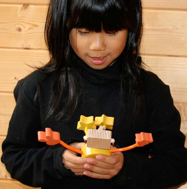 WOODEN DOLL #4 Wooden Toys (Ginga Kobo Toys) Japan