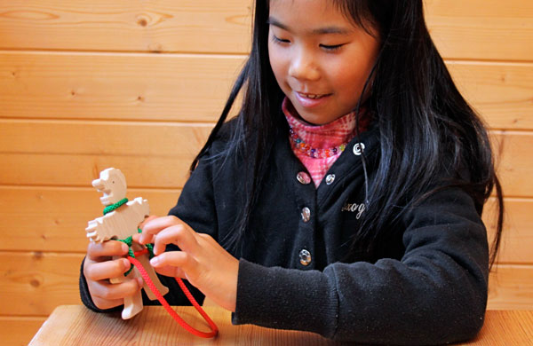 RESCUE PUZZLE (BRAIN TRAINING)Wooden Toys (Ginga Kobo Toys) Japan