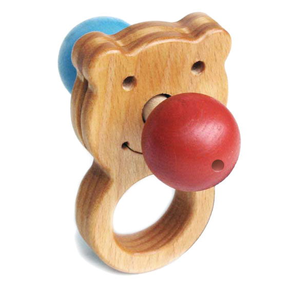 blue and red nose Wooden Toys (Ginga Kobo Toys) Japan