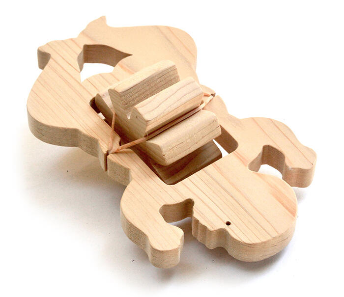 CRAWLING BABY Wooden Toys (Ginga Kobo Toys) Japan