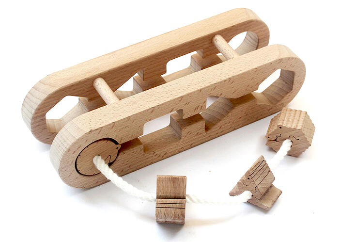 Sculptural Animal Labyrinth Wooden Toys (Ginga Kobo Toys) Japan