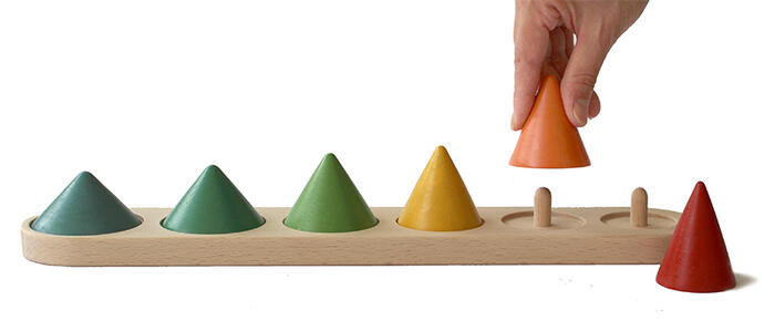 ● PICK UP CONES   Wooden Toys (Ginga Kobo Toys) Japan