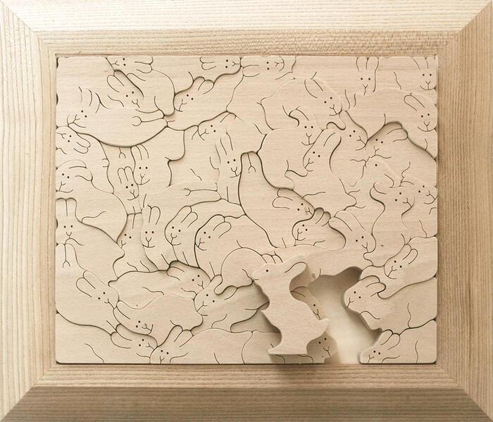 【送料無料】うさぎのジグソーパズル 超贅沢な 木のおもちゃ 日本製 パズル 型はめ 知育玩具 積み木 脳トレ おもしろパズル 幼児子供 小学生 1歳 プレゼント ランキング 2歳 3歳 4歳 5歳 6歳 誕生日ギフト~出産祝い 男の子