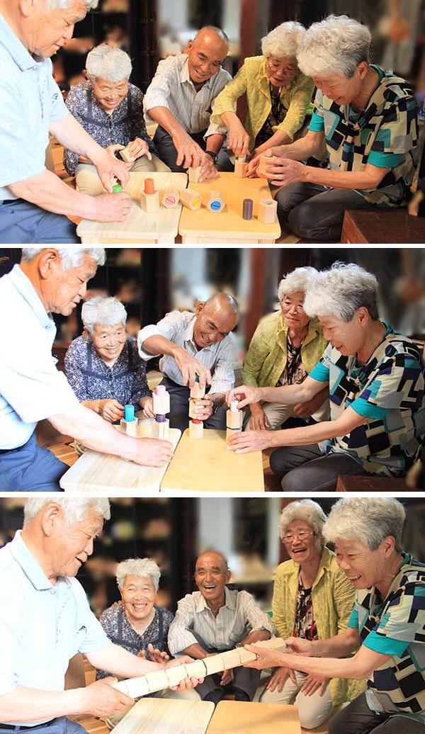 HEXAGONAL TWIST BLOCKS  Wooden Toys (Ginga Kobo Toys) Japan