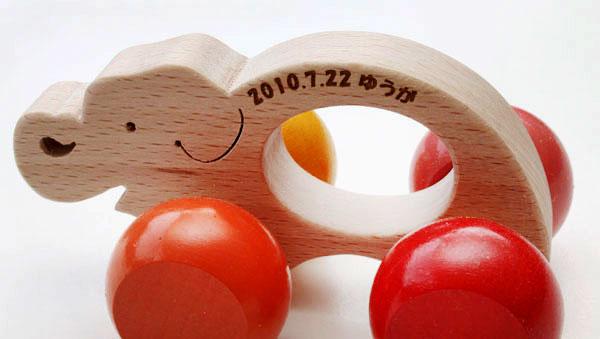 ■ ぞう車 (smooth baby toys push toy wooden car) the pacifier and the teeth for OK! Safety-assured Japan 0 1 year 2 years 3 years 0 1 age 2 age 3-year-old to celebrate the birth recommended ♪ is because rattle rattle kata kata man boy & girl child domest