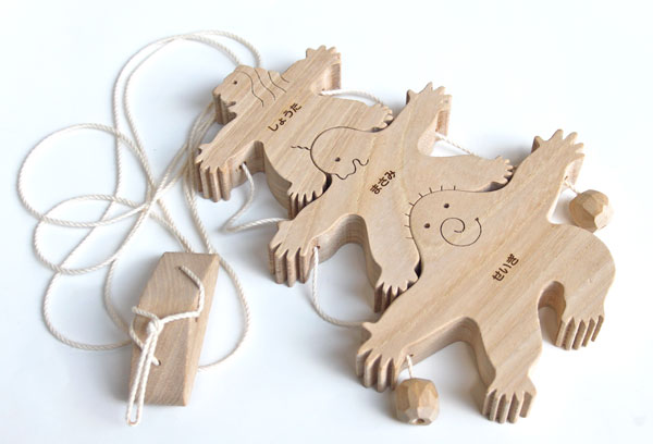 3 BROTHERS Wooden Toys (Ginga Kobo Toys) Japan