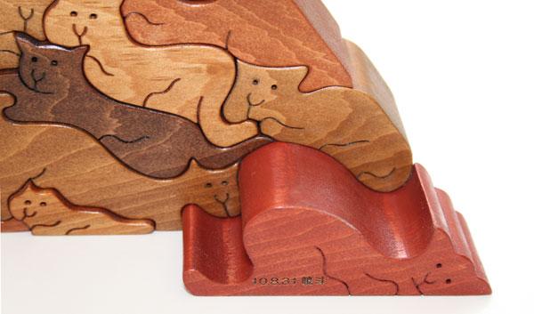 ANIMAL PYRAMID PUZZLE (A) Wooden Toys (Ginga Kobo Toys) Japan