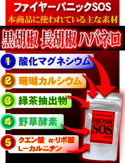 Fire panic SOS - diet/supplement / slim / slim body / combustion system components / fat burning slimming / popular
