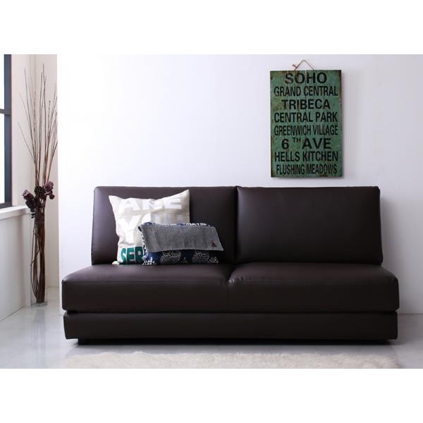 Sofa Bed 160cm In Width Brown Two Modern Design Nivelles ニヴェル Where It Is Lain