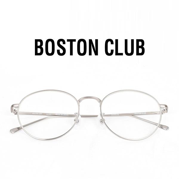 【スーパーSALE 期間限定プライス】【 ボストンクラブ 】 ダニエル 【 BOSTON CLUB 】 DANIEL52 メガネ クリア レンズ 丸 めがね 眼鏡 伊達 UV加工 シルバー 合金 メンズ レディース 日本製 アイウェア ケース付き