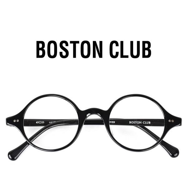 【 BOSTON CLUB ボストンクラブ 】 DOVER ドーバー メガネ クリアレンズ 黒ぶち 丸めがね 眼鏡 伊達 サングラス UV加工 黒 ブラック メンズ レディース 日本製