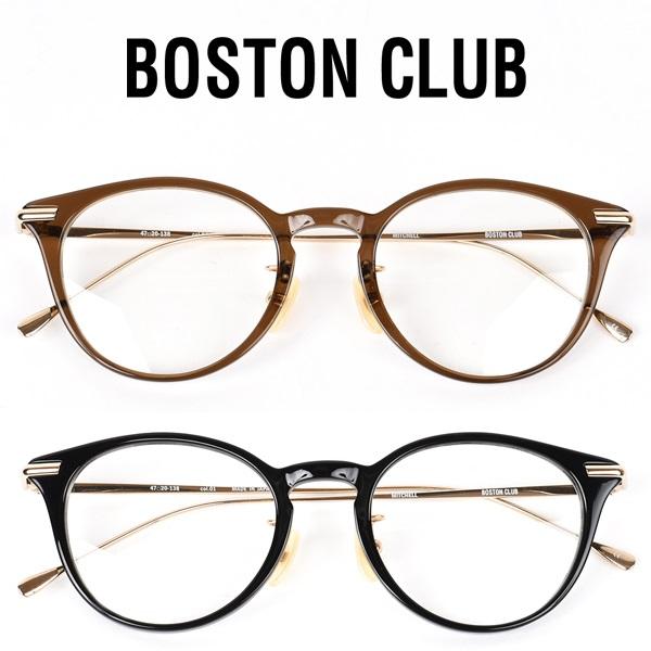 【 BOSTON CLUB ボストンクラブ 】 MITCHELL ミッチェル メガネ クリアレンズ 丸めがね メタルフレーム 眼鏡 UV加工 伊達 サングラス シルバー メンズ レディース 日本製