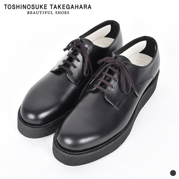 【スーパーSALE 期間限定プライス】【 20SS 】【 ビューティフル シューズ 】 クリーパー 【 BEAUTIFUL SHOES 】 CREEPER レディース 女性 レザー シューズ 靴 ブラック 24cm