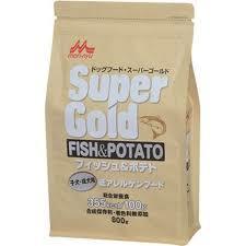 魚とポテトが主原料の低アレルゲンフード スーパーゴールド フィッシュ 正規激安 ポテト 800g 子犬 成犬用 未使用