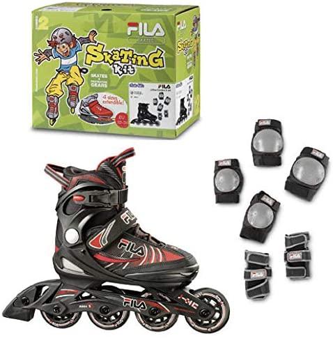 フィラ スケート FILA SKATES J-ONE 商品 COMBO 国内正規代理店品 2SET インラインスケート 人気上昇中 純正プロテクターセット サイズ調整可