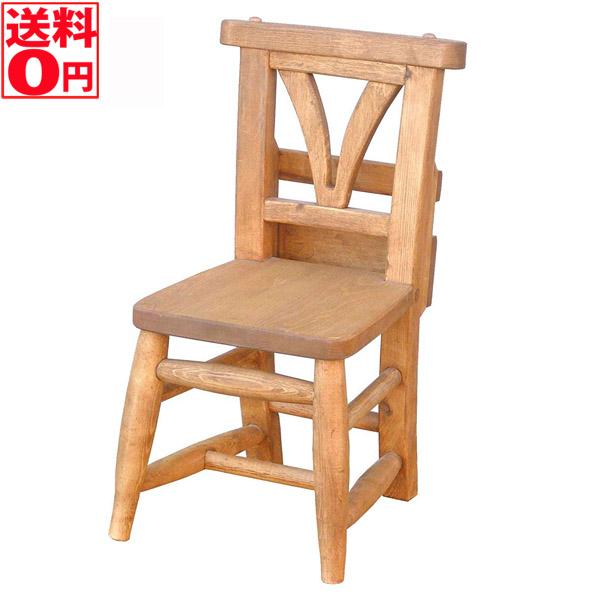 【送料無料】Kids Chair キッズチェア 幅24.3cm パイン材無垢 <完成品>(T310)【チェア単品】【東北配送不可商品】