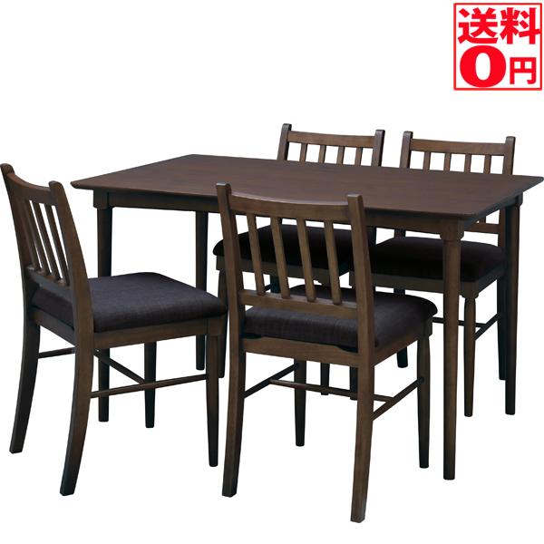 【送料無料】 Simple Design・シンプルデザイン ダイニング5点セット テ-ブル&チェア NET-831TBR・NET-830CBR