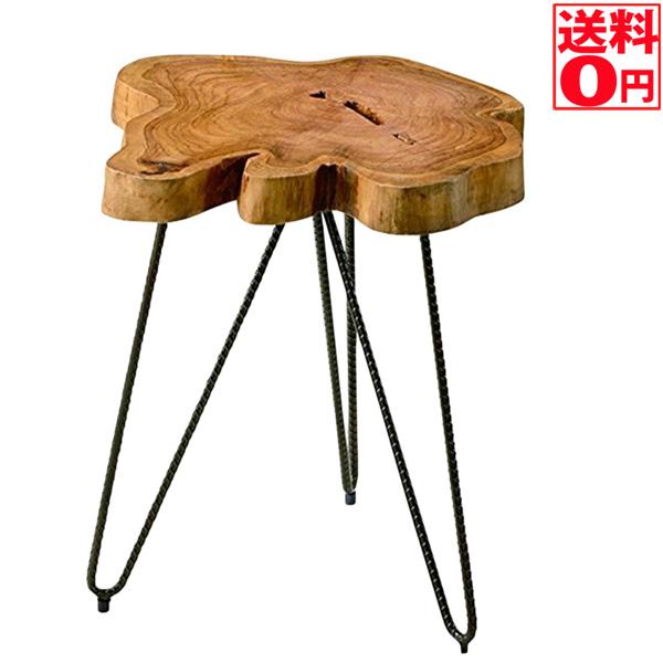 【送料無料】 丸太そのままの無垢材を使用したテーブル 無垢テーブル TTF-185