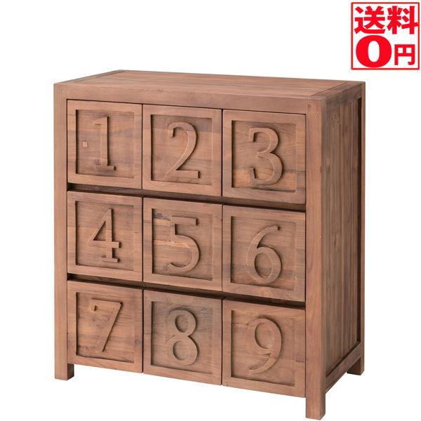 【送料無料】天然木 チェスト 9 ナイン TTF-186