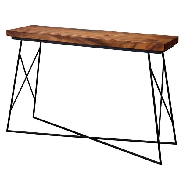 【別途実費追加送料】Gerald・ジェラルド カウンターテーブル 幅140cm 天然木 (モンキーポッド) JW-633