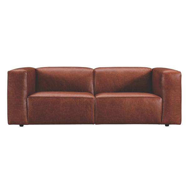 8/10入荷!!【Luxury Sofa】 エレファントソファ 2シーター 本革 幅207cm WE-332LBR