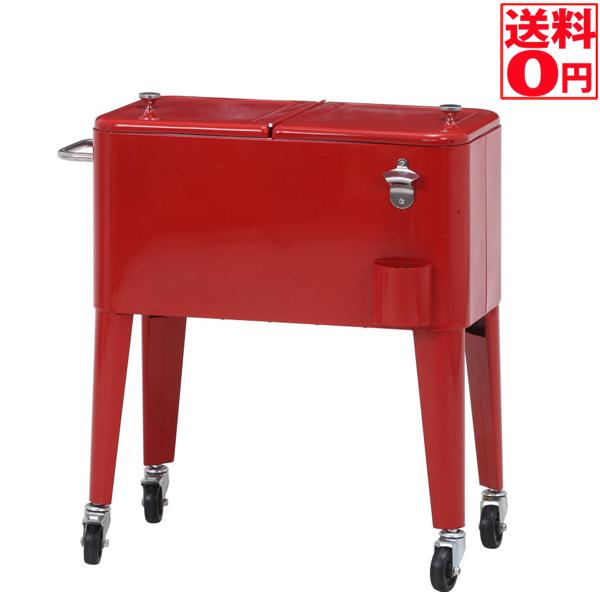 【送料無料】ローリング クーラーボックス 60L レッド 28283【Garden Furniture】 次回は5月下旬入荷!!