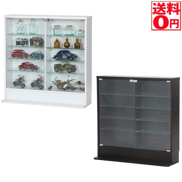 【送料無料】 ガラスコレクションケース ロータイプ 浅型 BK 96070