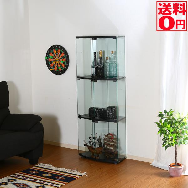 【送料無料】 ガラスディスプレイケース3段 TMG-G117 98879