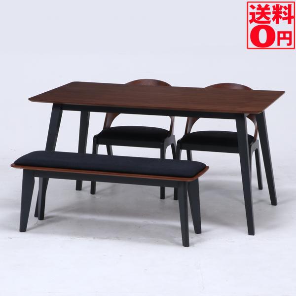 【送料無料】 ダイニング4点セット モカ テーブル・チェア・ベンチ 98955・98956・98957