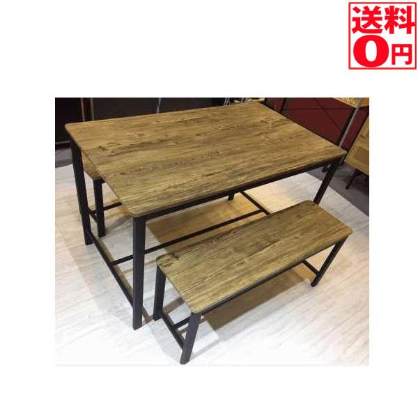【送料無料】 ダイニング3点セット テーブル幅110cm・ベンチ 86131