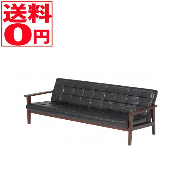 【送料無料】 ソファー シャーク3P-BK(ブラック)