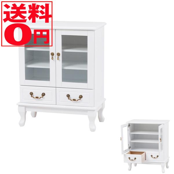 【送料無料】 Feminine Wood Furniture フェミニンシリーズ キャビネット(ホワイト) MCC-6342WH