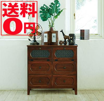 【送料無料】 Wood Product チェスト(ブラウン) MCH-5186BR