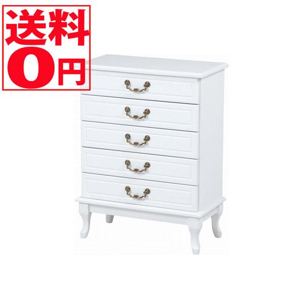 【送料無料】 Feminine Wood Furniture フェミニンシリーズ チェスト(ホワイト) MCH-6340WH※時間帯指定不可
