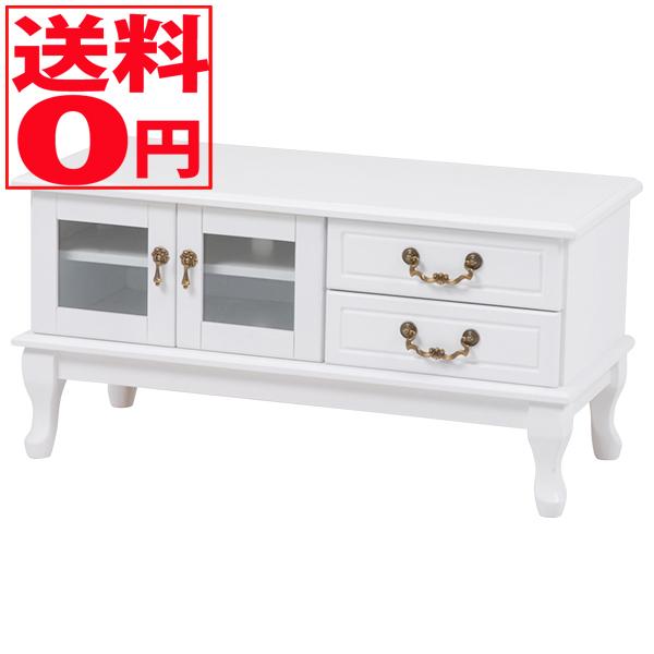 【送料無料】 Feminine Wood Furniture フェミニンシリーズ テレビ台(ホワイト) MTV-6341WH※時間帯指定不可