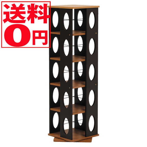 【送料無料】 Wood Product 回転ラック MUD-7180 (ブラウン)