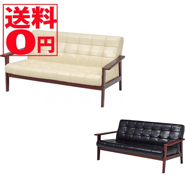 【送料無料】 ソファー シャーク2P-(ブラック)(アイボリー)