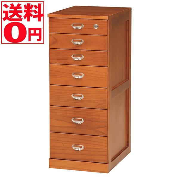 【送料無料】 天然木 整理仕分け用 タワーチェスト (幅33cm 7段) MCH-6584