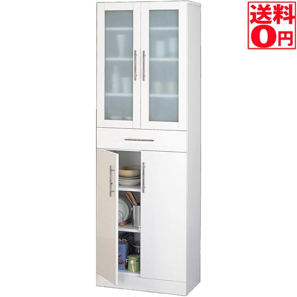 入荷しました!!【送料無料】カトレア食器棚60-180 ホワイト 23461