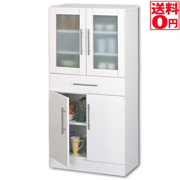 入荷しました!!【送料無料】カトレア食器棚60-120 ホワイト 23463